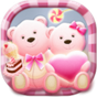Cute Bear love  honey with Pink hearts DIY Theme 3.9.8