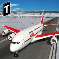 Snow Cargo Jet Landing 3D Simgesi