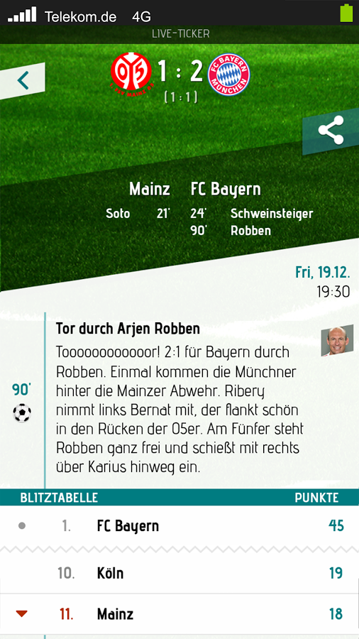 Herzrasen Fussball Live Ticker App Android Kostenloser