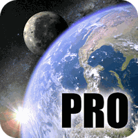 Icono de Earth & Moon in HD Gyro 3D PRO Parallax Wallpaper