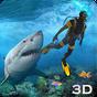 Tubarão Ataque Lança pesca 3D