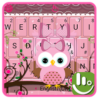Ikon apk Pink Bow Owl Tema Keyboard