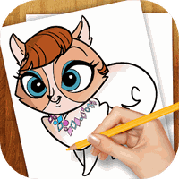 Ícone do Learn To Draw Little Pet Shop