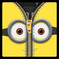 Zipper Lock Screen Yellow apk icon