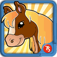 Ícone do Cavalo jogo de colorir
