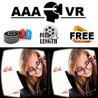 AAA VR Cinema Cardboard 3D SBS Simgesi