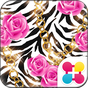 Zebra and Roses Wallpaper 3.0.0