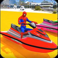 Superheroes Jet Ski Stunts: Top Speed Racing Games APK icon
