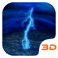 Lightning Storm Tech 3D Theme icon