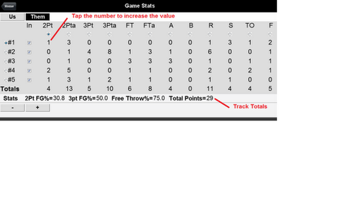 Team Basketball Stats Tracker Android - Free Download Team