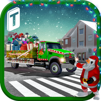 Santa Christmas Gift Delivery icon