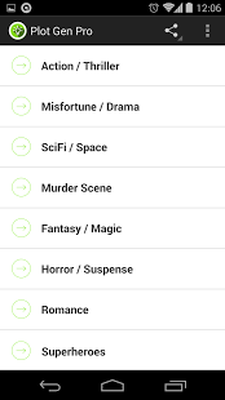 Story Plot Generator Android - Free Download Story Plot