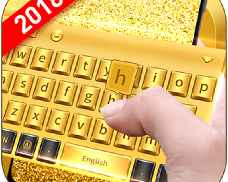 Golden Smart Keyboard with Emoji Android - Free Download Golden