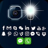 Ícone do Lanterna em chamada e mensagem