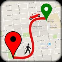 Ícone do GPS planejador de rotas