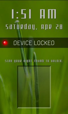 Fingerprint Lock Free Video
