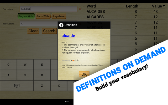 Word Breaker (Scrabble Cheat) Android - Free Download Word