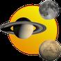 Soleil, lune et planètes