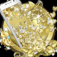 Icono de Gold Butterfly Diamond Theme