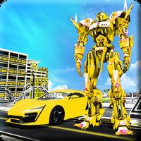 Ícone do Carro de vôo transformação robô guerras carro s