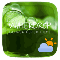 Water Drop GO Weather Theme icon