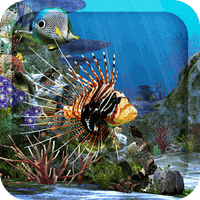 3D Aquarium Live Wallpaper HD Simgesi