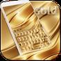 Luxo ouro teclado tema 10001011