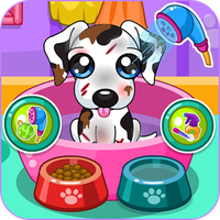 Caring for puppy salon icon