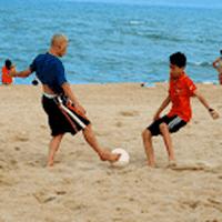 Ícone do Futebol de Praia Tema Esporte