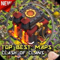 Ícone do apk melhor mapa de clash do clan