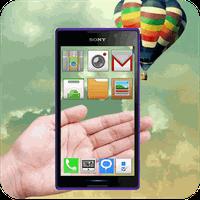 Transparent Screen 3D Launcher apk icon