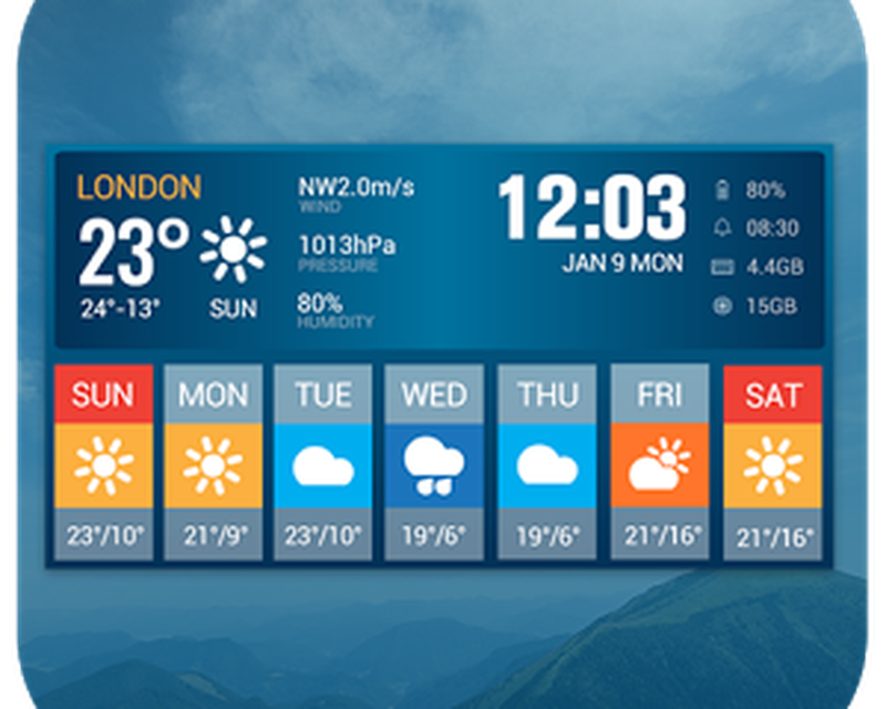 Weather Widget &7 Day Forecast Android - Free Download Weather