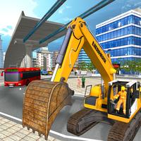 Ikon kota jembatan layang konstruksi Sim