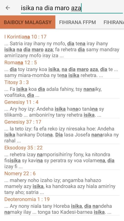 baiboly sy fihirana protestanta gratuit