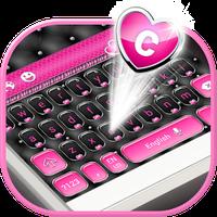 Icono de Elegant Keyboard - Black & Pink Heart Theme