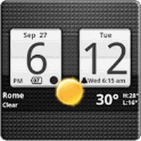 Biểu tượng apk Sense Analog Clock Widget