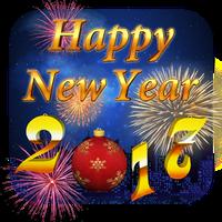 Icono de Feliz Año Nuevo 2017 Tema 3D