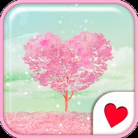 Cute wallpaper★Pink Heart Tree apk icon