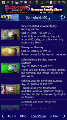 ky3 weather forecast springfield mo