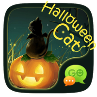 FREE GO SMS HALLOWEENCAT THEME icon