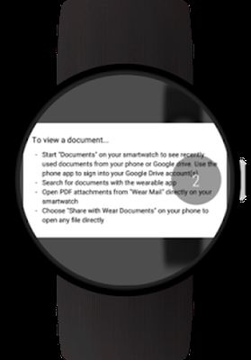 Image 1 of Documents for Android Wear