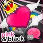 GO SMS Pro Pink&Black Theme v1.0.27 APK