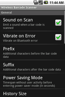 Wireless Barcode-Scanner, Demo Android - Free Download Wireless