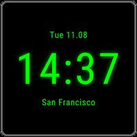 """Clock on Homescreen Live Wallpaper. """""""