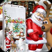 Ícone do apk Feliz Natal Santa tema 3D