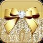 Lujo Oro corbata de moño Tema