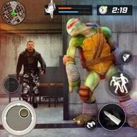 Turtle Ninja Évasion critique: prison de la ville