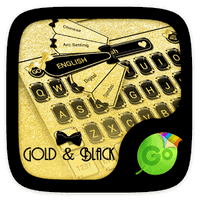 Gold & Black Keyboard Theme apk icon