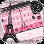 Rosa Paris Rose Teclado Torre Eiffel Tema 10001003