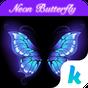 Neon Butterfly Keyboard Theme  APK